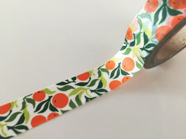 Summer Orange - Washi Tape 15mm x 10 meters WT834 - CharmTape - 2