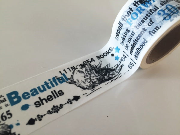 Big Washi Tape - Shell (30mm X 10M) WT890 - CharmTape - 3
