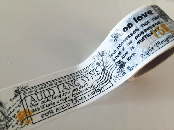 Big Washi Tape - Auld Lang Syne (30mm X 10M) WT891 - CharmTape - 3