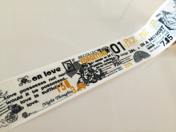 Big Washi Tape - Auld Lang Syne (30mm X 10M) WT891 - CharmTape - 4