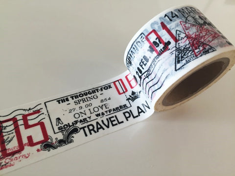 Big Washi Tape - Travel (30mm X 10M) WT892 - CharmTape - 1