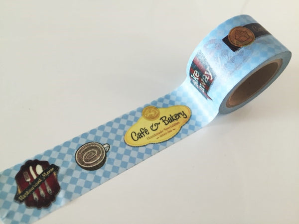 Cupcake Bakery Big Washi Tape 3cm x 10 meters WT619 - CharmTape - 1