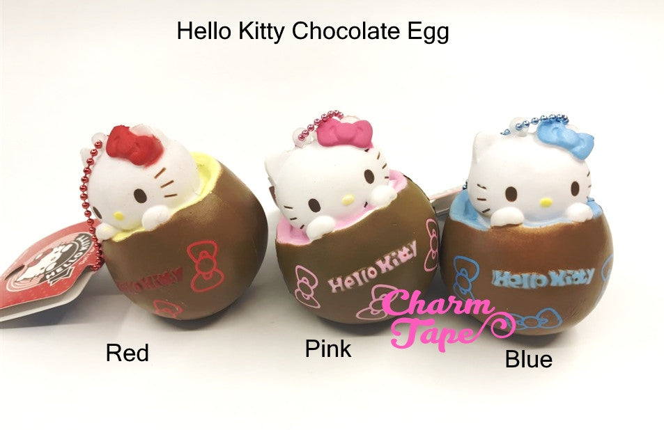 Hello Kitty Chocolate Egg Squishy cellphone charm by Sanrio