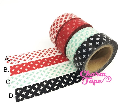 Cross on Washi Masking Tape Roll 15mm x 10m WT87