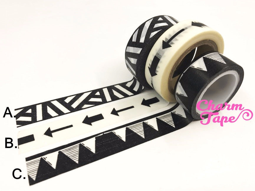 Washi Tape Black & White 15mm x 10 meters WT697