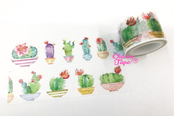 Cactus Plant Big Washi Tape (30mm x 5m) WT1058