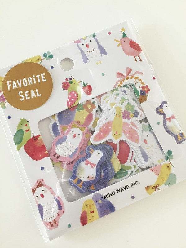 Birds Sticker Flakes Set 70 Sheets Mindwave Japan SS908 - CharmTape - 1