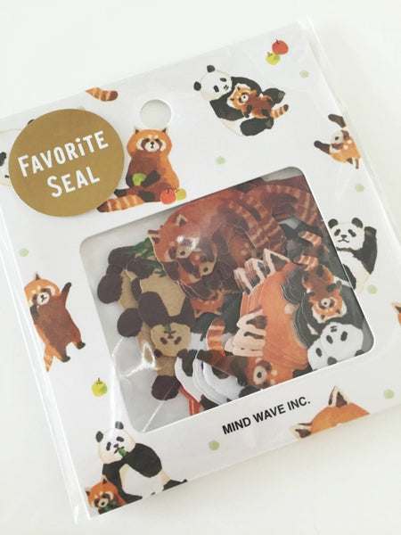 Copy of Zoo animals Sticker Flakes Set 70 Sheets Mindwave Japan SS912 - CharmTape - 3