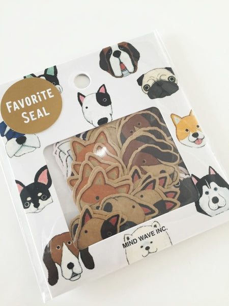 Dog Sticker Flakes Set 70 Sheets Mind wave Japan SS911 - CharmTape - 3