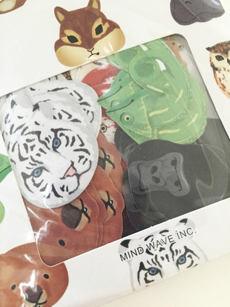 Zoo animals Sticker Flakes Set 70 Sheets Mindwave Japan SS912 - CharmTape - 4