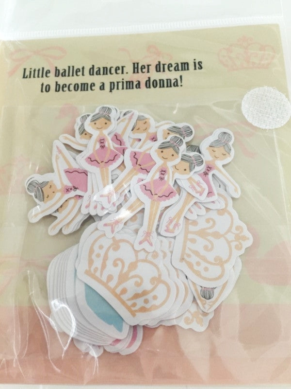 Ballerina Dancer Sticker Flake Seals Set 64 pieces by Shinzi Katoh SS928 - CharmTape - 4