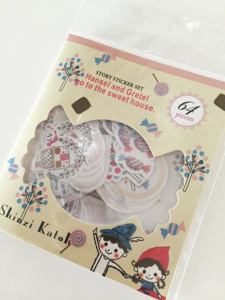 Hansel and Gretel Sticker Flake Seals Set 64 pieces by Shinzi Katoh SS929 - CharmTape - 1