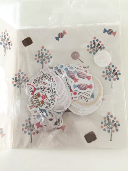 Hansel and Gretel Sticker Flake Seals Set 64 pieces by Shinzi Katoh SS929 - CharmTape - 3