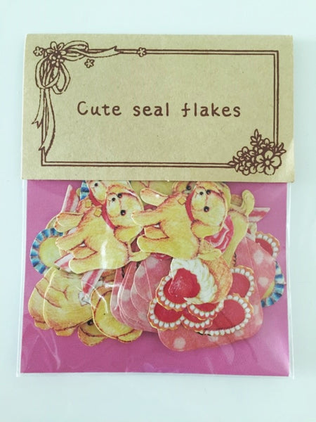 Copy of White Puppy Dog Sticker Flake Seals Set 70 pieces SS925 - CharmTape - 4