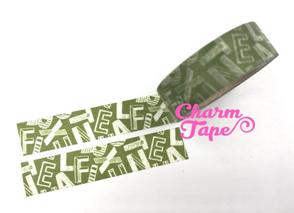 Alphabet Letters Washi tape 15mm x 10 m WT964 WT1061