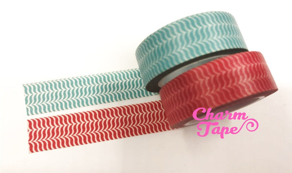 Geometrical leaf pattern Washi Tape 15mm x 10m WT440