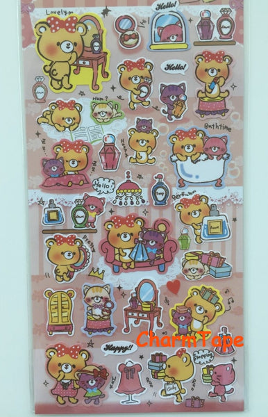 Fortissimo Deco art stickers - Princess Bear 1 Sheets SS429