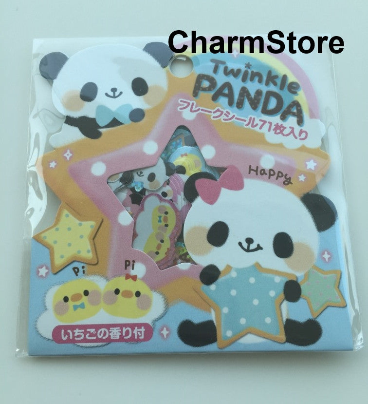 Panda Bear Sticker Flakes Set -  71 Sheets SS449 - CharmTape - 1
