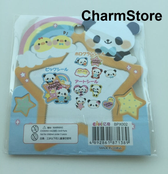 Panda Bear Sticker Flakes Set -  71 Sheets SS449 - CharmTape - 3