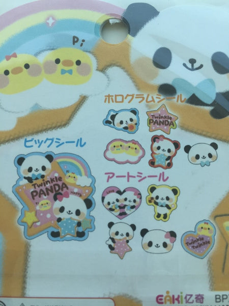 Panda Bear Sticker Flakes Set -  71 Sheets SS449 - CharmTape - 4