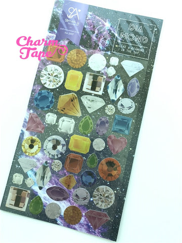 Gemstones & Diamond stickers by Sonia 1 Sheets SS559