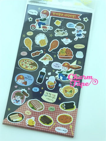 Korean Fast Food sticker art stickers by Funny 1 Sheets SS563