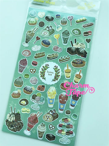 Sweet Dessert sticker art stickers by Funny 1 Sheets SS564