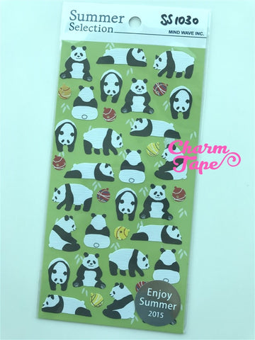 Panda stickers by Mindwave 1 Sheets ss1030