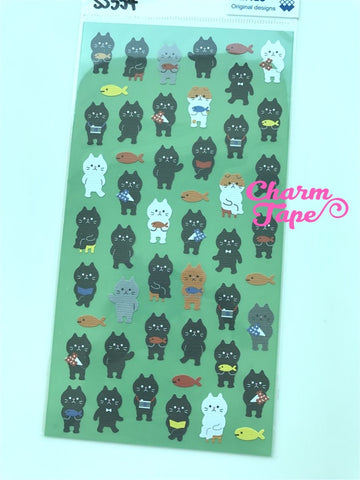 Black cat paper art stickers 1 Sheets by Mindwave SS554