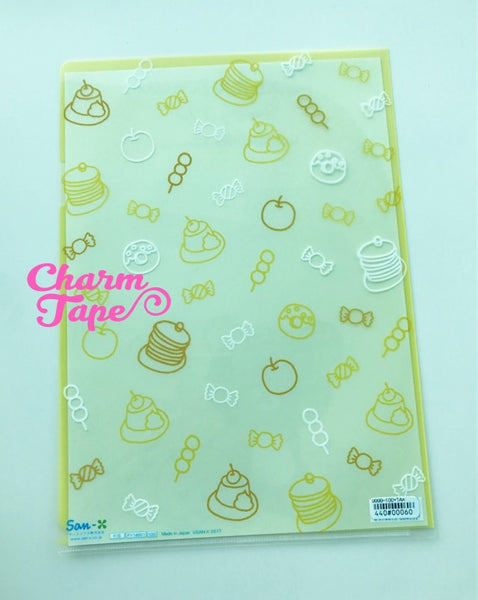 San-x Rilakkuma bear A4 plastic file folder - Happy Life with Rilakkuma