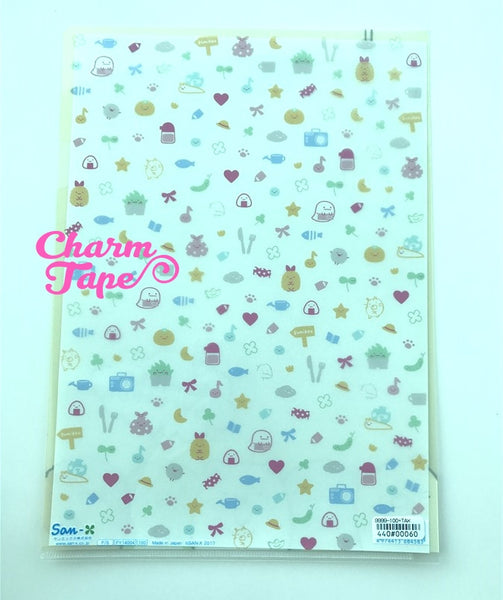 San-x Sumikko Gurashi A4 plastic file folder : Yellow