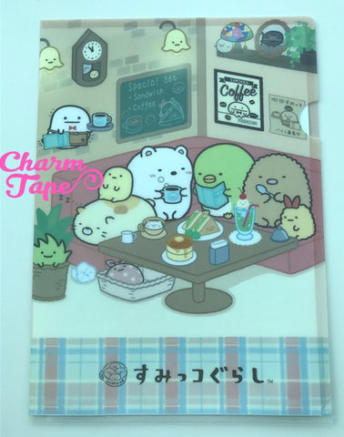 San-x Sumikko Gurashi A4 plastic file folder : Coffee Shop