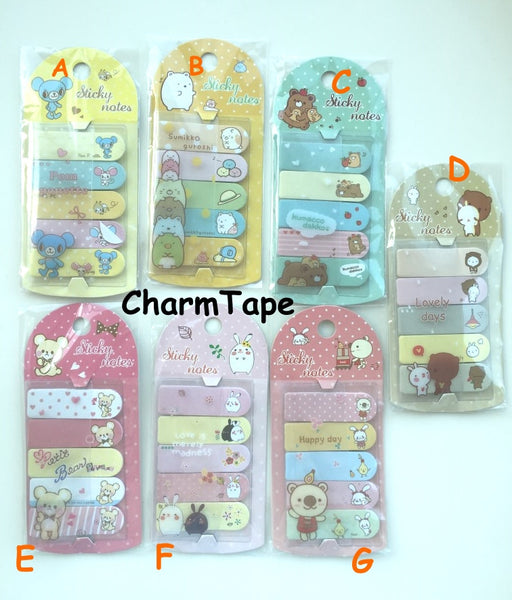 Guroshi Sticky Post It Memo Note Pad 100 sheets SS779 - CharmTape - 3