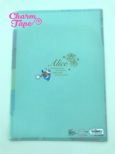 Alice in Wonderland - Disney 5 Pocket Plastic File Folder A4