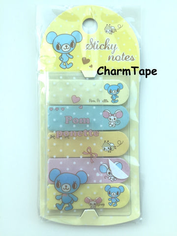 Copy of Brown Bear Kumacco Sticky Post It Memo Note Pad 100 sheets SS780 - CharmTape - 1