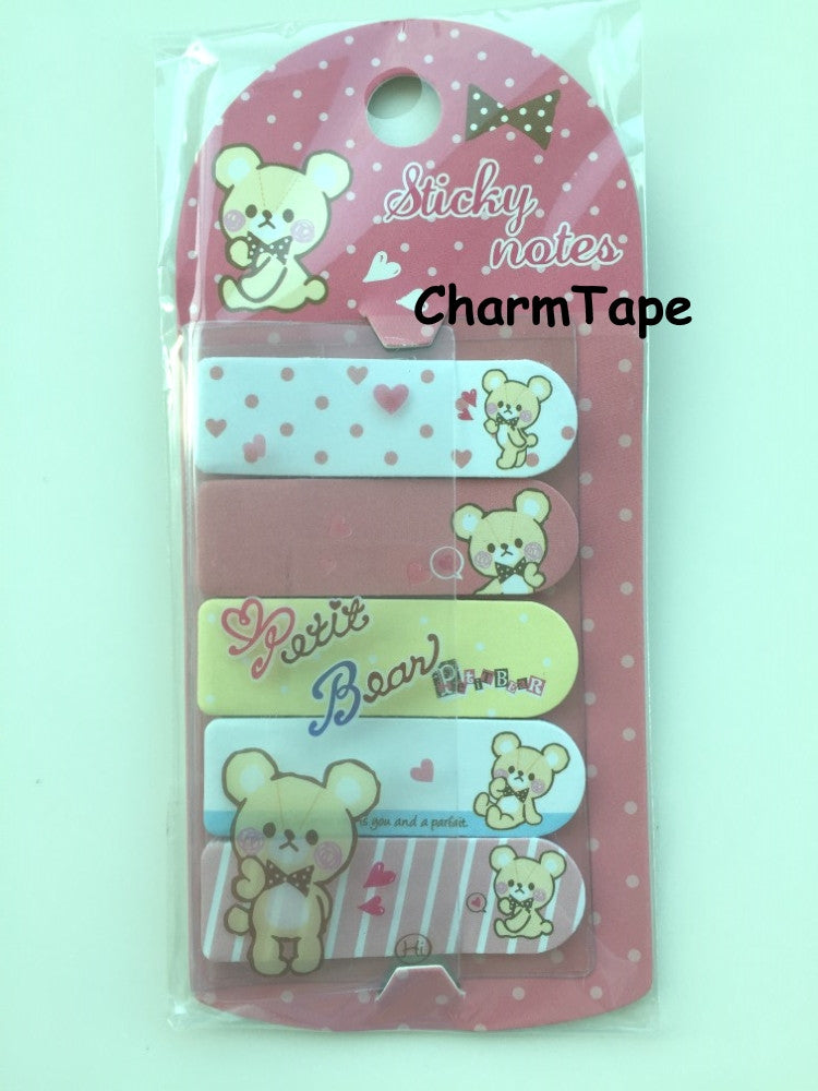 Petit Bear Sticky Post It Memo Note Pad 100 sheets SS782 - CharmTape - 1