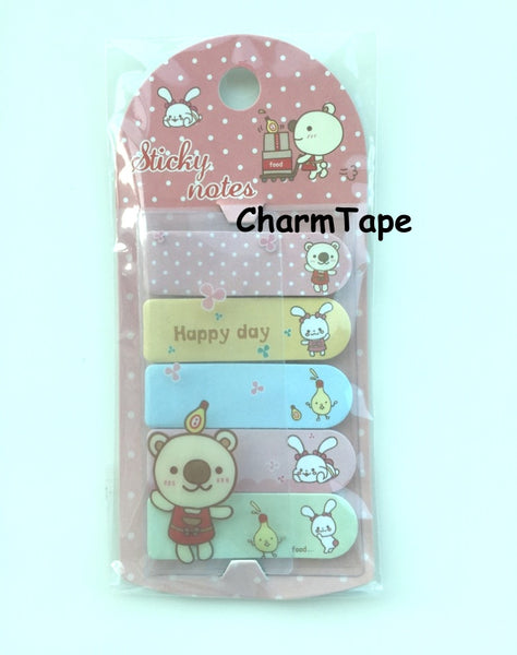 Bear & Bunny Sticky Post It Memo Note Pad 100 sheets SS784 - CharmTape - 1