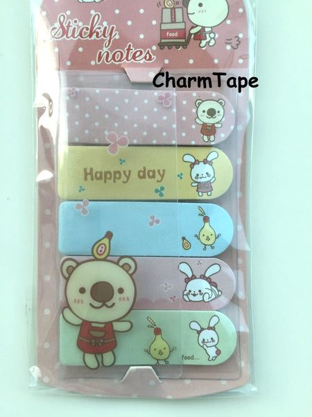 Bear & Bunny Sticky Post It Memo Note Pad 100 sheets SS784 - CharmTape - 2