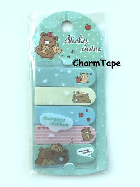 Brown Bear Kumacco Sticky Post It Memo Note Pad 100 sheets SS780 - CharmTape - 1