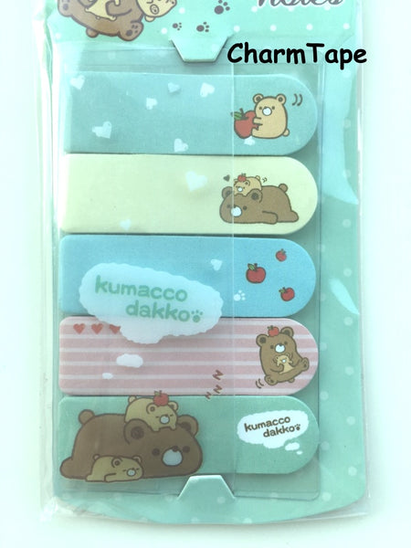 Brown Bear Kumacco Sticky Post It Memo Note Pad 100 sheets SS780 - CharmTape - 2