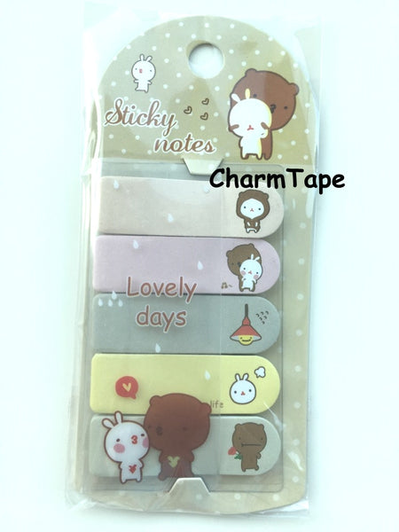 Brown Bear Sticky Post It Memo Note Pad 100 sheets SS781 - CharmTape - 1