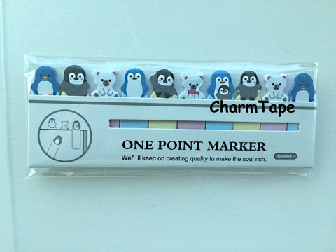 Baby Penguin & Polar Bear Sticky Post It Memo Note Pad 150sheets SS791 - CharmTape - 1
