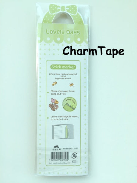 120 sheets Lovely Animal Sticky Notes / Stick Marker / Memo SS768 - SS773 - CharmTape - 4