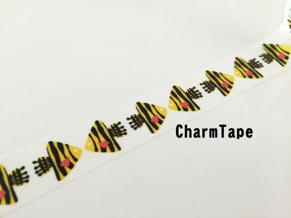 Butterflyfish Fish Washi tape 15mm x 10m wt910 - CharmTape - 3
