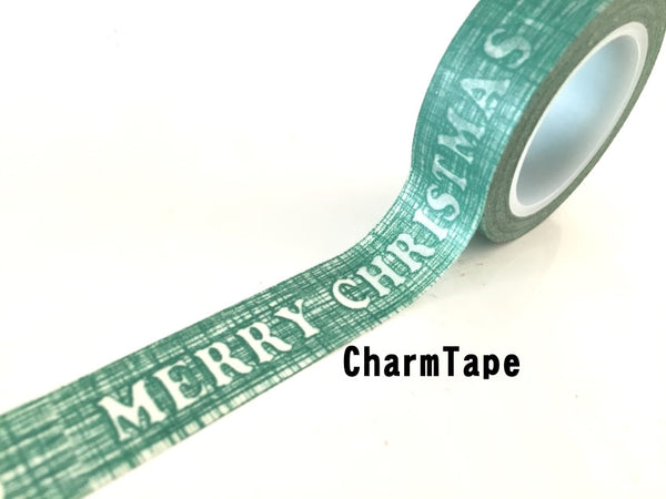 Green Merry Christmas Washi Tape 15mm x 10m WT235 - CharmTape - 1