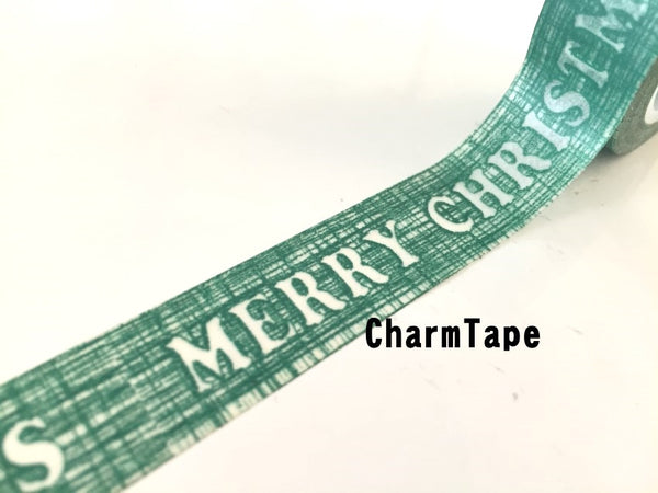Green Merry Christmas Washi Tape 15mm x 10m WT235 - CharmTape - 3