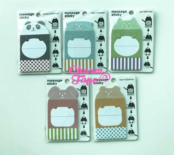 Animal Sticky Post-It Memo Note Pad secret message 20 sheets SS345
