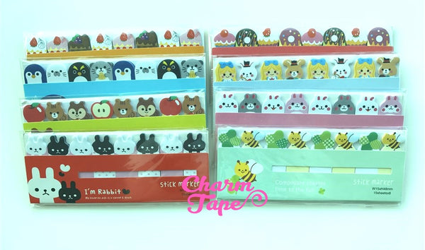 Sticky Post-It Memo Note Pad - Animals party favors AA482