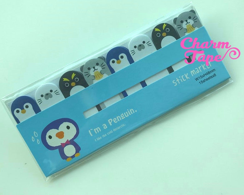 Penguin & Seal Sticky Post-It Memo Note Pad 120 sheets aa482-a