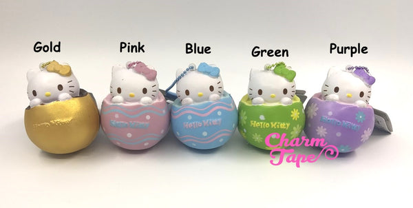 Hello Kitty Chocolate Egg Squishy cellphone charm by Sanrio - Light Blue